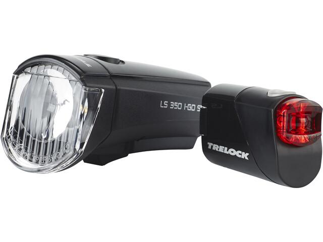 Trelock LS350 I-GO Sport + LS710 REEGO verlichtingsset, black